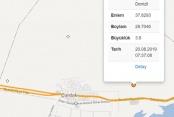 Çardak'ta 3,9 büyüklüğünde deprem