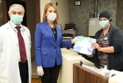 Merkezefendi Belediyesi'nden sağlık çalışanlarına gıda desteği