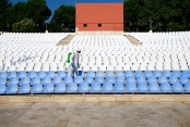 Açık Hava Tiyatrosu dezenfekte edildi