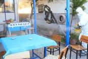 Pamukkale Belediyesi kıraathaneleri dezenfekte ediyor