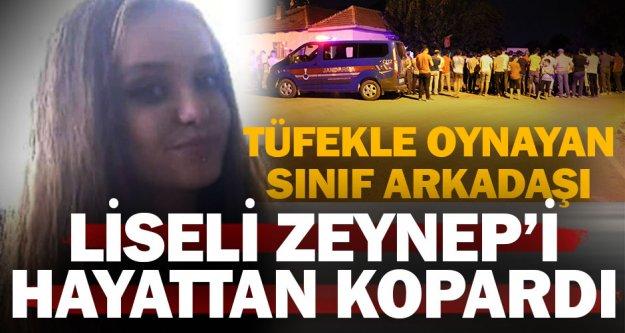 17 yaşındaki Zeynep kaza kurşunuyla öldü
