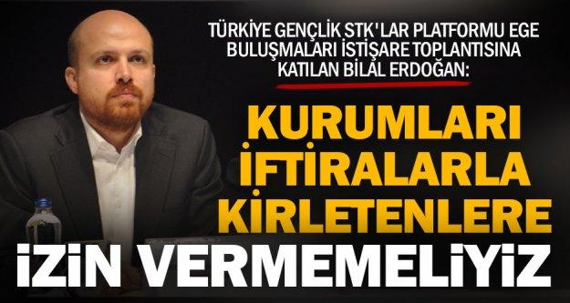 Bilal Erdoğan Denizli'de konuştu: Kurumları iftiralarla kirletenlere izin vermemeliyiz