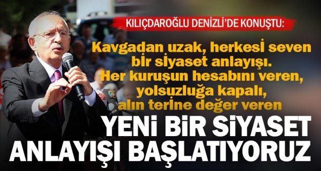 Kılıçdaroğlu: Yeni bir siyaset anlayışı başlatıyoruz
