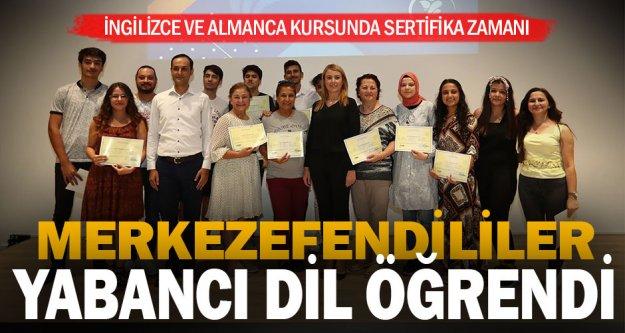 Merkezefendi Belediyesi Yabancı Dil Kursları tamamlandı