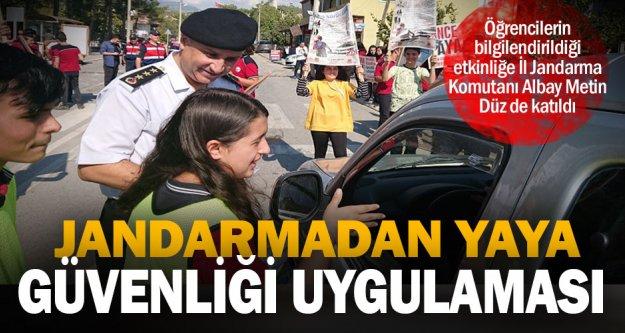 """Jandarmadan 'Yaya Güvenliğinin Nöbetçisiyiz"""" etkinliği"""