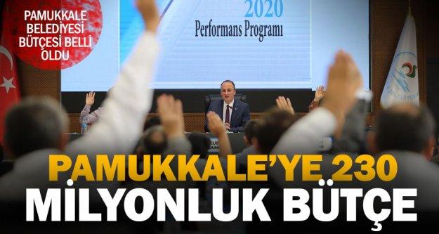 Pamukkale Belediyesi 2020 bütçesi 230 milyon lira