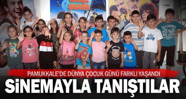Pamukkale Belediyesi, çocuklar sinemayla tanıştırdı