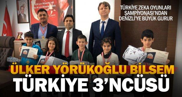Denizlili öğrenciler zeka oyunlarında Türkiye 3'ncüsü oldu
