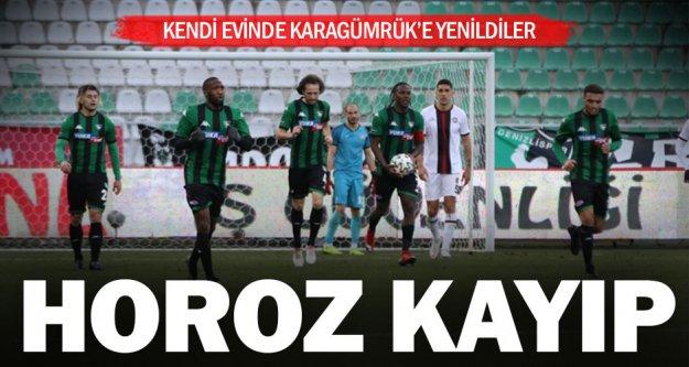 Denizlispor, kendi evinde Karagümrük'e 2-1 yenildi