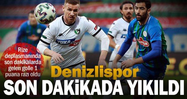 Zorlu Rize deplasmanında son dakikalarda gelen gol Denizlispor'u yıktı