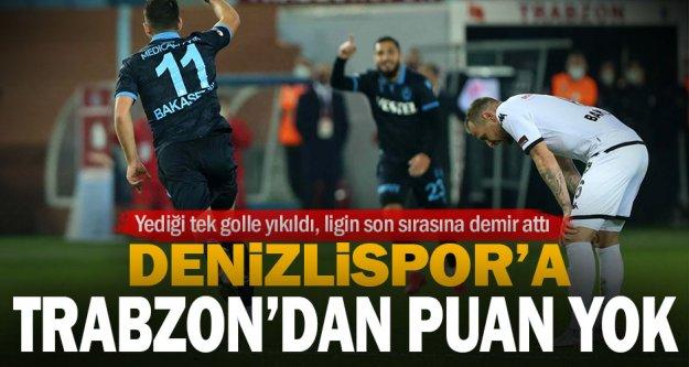 Denizlispor Trabzon'dan puan çıkaramadı