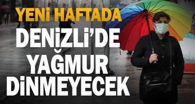 Denizli'de yeni hafta yağmurlu geçecek