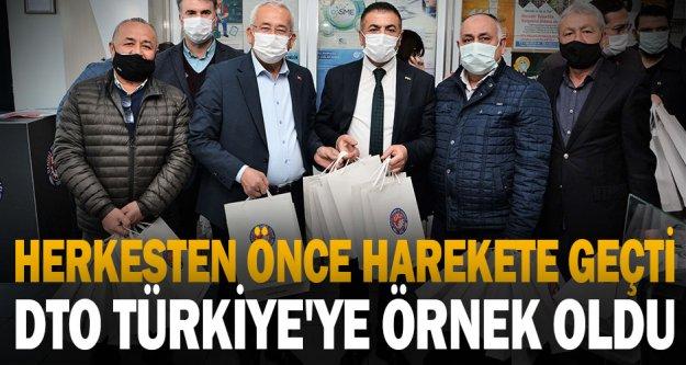 Herkesten önce harekete geçti, DTO Türkiye'ye örnek oldu