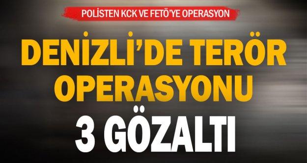 Polisten terör operasyonu: 3 gözaltı