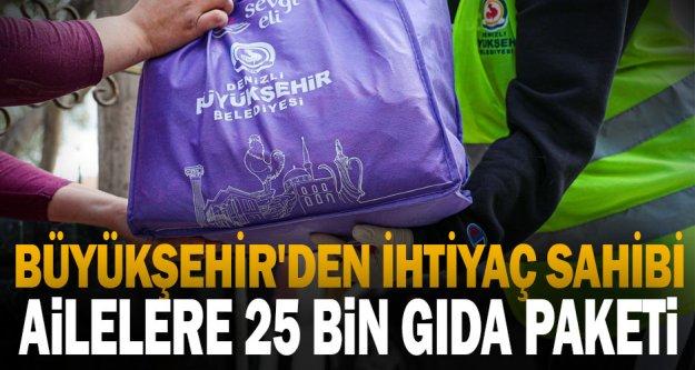 Büyükşehir'den ihtiyaç sahibi ailelere 25 bin gıda paketi