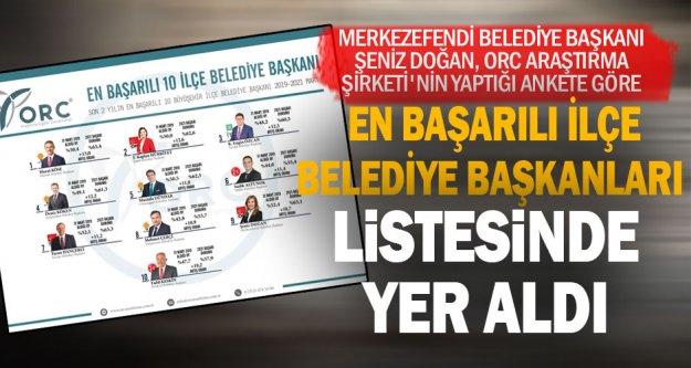 Şeniz Doğan, en başarılı ilçe belediye başkanları listesinde yer aldı