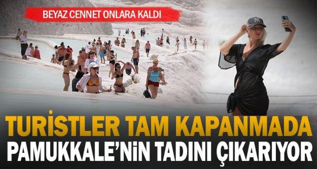 'Beyaz Cennet' sokağa çıkma kısıtlamasından muaf yabancı turistlere kaldı