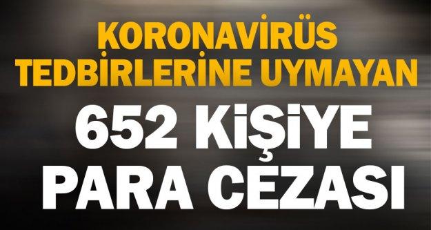 Denizli'de Kovid-19 tedbirlerine uymadığı belirlenen 652 kişiye para cezası kesildi