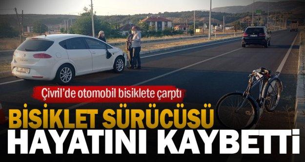 Çivril'de otomobilin çarptığı bisiklet sürücüsü hayatını kaybetti