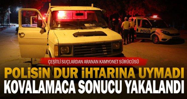 Denizli'de 'dur' ihtarına uymayıp polise çarparak kaçan zanlı kovalamaca sonucu yakalandı