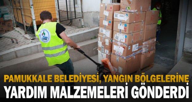 Pamukkale Belediyesi, yangın bölgelerine insani yardım için seferberlik başlattı