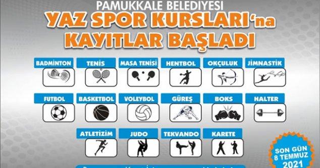 Pamukkale Belediyesi yaz spor kurslarına kayıtlar başladı