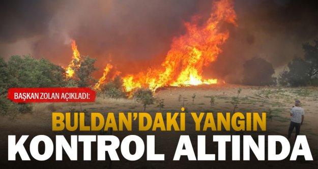 Başkan Zolan'dan, 'Yangın büyük ölçüde kontrol altına alındı' açıklaması
