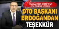 DTO Başkanı Erdoğan#039;dan, Cumhurbaşkanı Erdoğan#039;a teşekkür