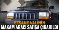Merhum Vali Recep Yazıcıoğlu#039;nun makam aracı olarak kullandığı cip satışa çıkartıldı