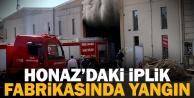 Honaz#039;da iplik fabrikasının deposunda çıkan yangın söndürüldü
