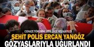 Şehit polis memuru Ercan Yangöz#039;ün naaşı Denizli#039;de toprağa verildi