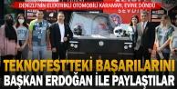 Denizlinin elektrikli otomobili Karaman, evine döndü
