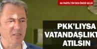 PKK'lılar vatandaşlıktan atılsın önerisi