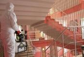 Pamukkale Belediyesi ALES öncesi okulları dezenfekte etti